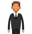 tan man with beard businessman icon vector image vector image