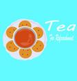 tea poster vector image vector image