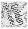The Golden Retriever Word Cloud Concept vector image vector image