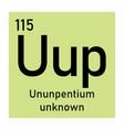 ununpentium chemical symbol vector image vector image