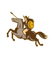 valkyrie amazon warrior horse rider vector image vector image