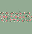 vintage flowers seamless border romantic vector image