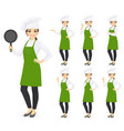 woman chef vector image vector image