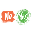 yes and no vector image vector image