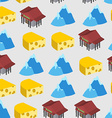 Seamless pattern of Switzerland Bank and cheese vector image