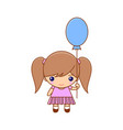 little girl with balloon and pretty dress vector image