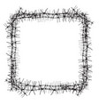 silhouette of severe obstacle barbed wire fencing vector image