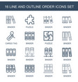 16 order icons vector image vector image