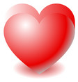 3d red heart shape love affection valentines day vector image vector image