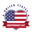 4th july united states independence day emblem vector image