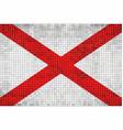 abstract mosaic flag of alabama vector image vector image