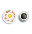 american breakfast realistic vector image