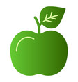 apple flat icon fruit green icons in trendy flat vector image
