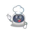 astronaut helmet chef cartoon wearing white hat