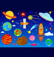 astronautics spase set vector image
