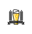 beer logo design vector image