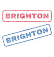 brighton textile stamps vector image vector image
