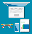 business concept flat design for responsive design vector image