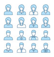 businessman and businesswoman icon set vector image