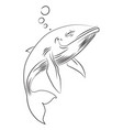 cartoon image of happy whale vector image vector image