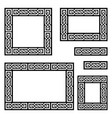 celtic frame or border pattern collection vector image vector image