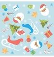 Christmas background flat design vector image vector image