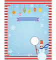 Christmas background for card or invitation with vector image vector image
