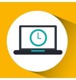 cloud computing clock social media virtual icon vector image vector image