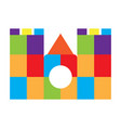 colored castle toy icon vector image