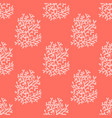 corals bright red seamless pattern vector image vector image