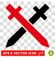 Crossing Swords Eps Icon vector image vector image