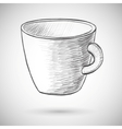 Cup sketch vector image