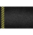 Danger arrows on asphalt texture vector image vector image