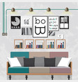 decorate a living room vector image vector image