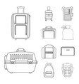 design of suitcase and baggage logo vector image