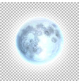detailed full moon a transparent background vector image vector image