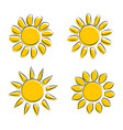 different sun icons on white background vector image vector image