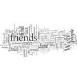 do you want to be a friend or a date vector image vector image