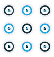 document icons colored set with file audio file vector image vector image