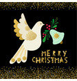 dove of peace christmas invitation card vector image vector image