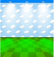 Eco room with clouds vector image vector image