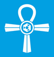 egypt ankh symbol icon white vector image vector image