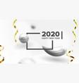 elegant holiday celebrating 2020 banner vector image vector image