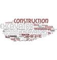 excavators word cloud concept vector image vector image