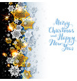 festive background with shine snowflakes vector image vector image