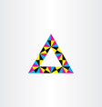 geometric colorful triangle frame design vector image