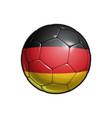 germany flag football - soccer ball vector image vector image