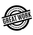 Great Work rubber stamp vector image vector image