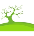 Green Background With Trees And Earth Isolated vector image