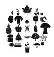 greengrocery icons set simple style vector image vector image